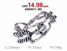Factory Directly Sale High Quality Skull Bangle for Men Jewelry