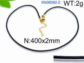 Stainless Steel Clasp with Fabric Cord