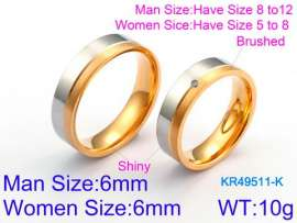 Stainless Steel Lover Ring