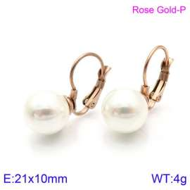 SS Shell Pearl Earrings
