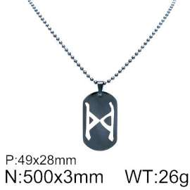 Stainless Steel Black-plating Necklace