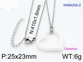 Stainless steel with Ceramic Necklace